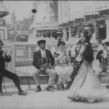 still from a 1900 film showing black flamenco dancers